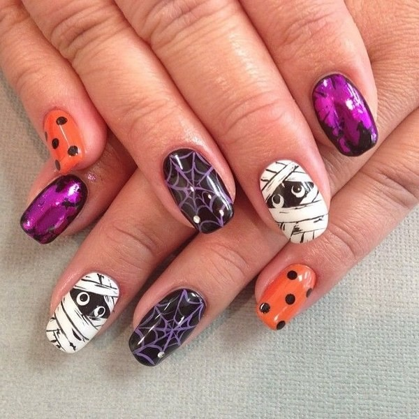 halloween-nail-ideas-91 89+ Seriously Spooky Halloween Nail Art Ideas