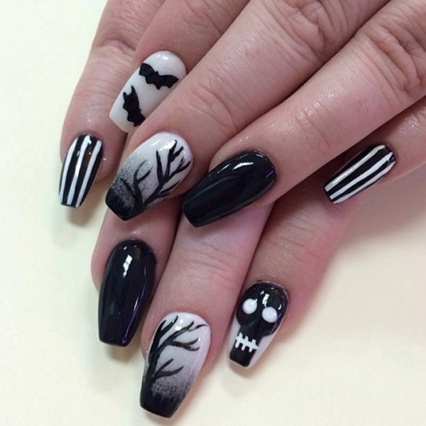 halloween-nail-ideas-92 89+ Seriously Spooky Halloween Nail Art Ideas