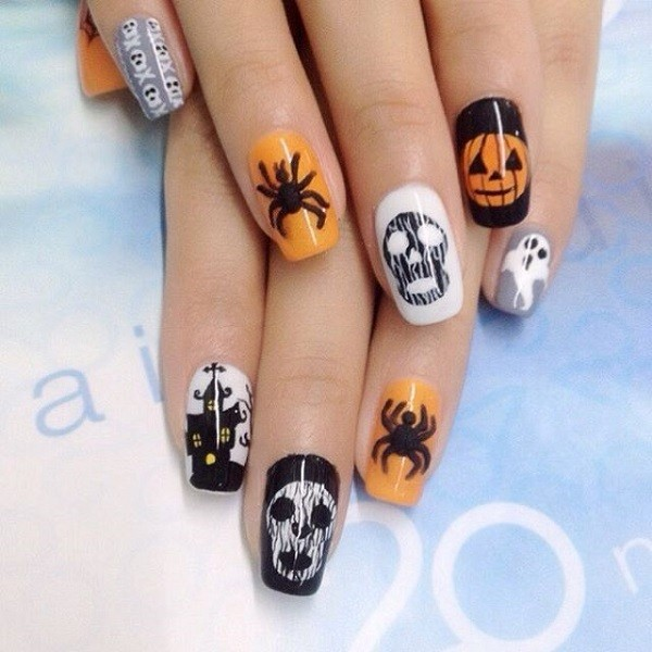 halloween-nail-ideas-93 89+ Seriously Spooky Halloween Nail Art Ideas