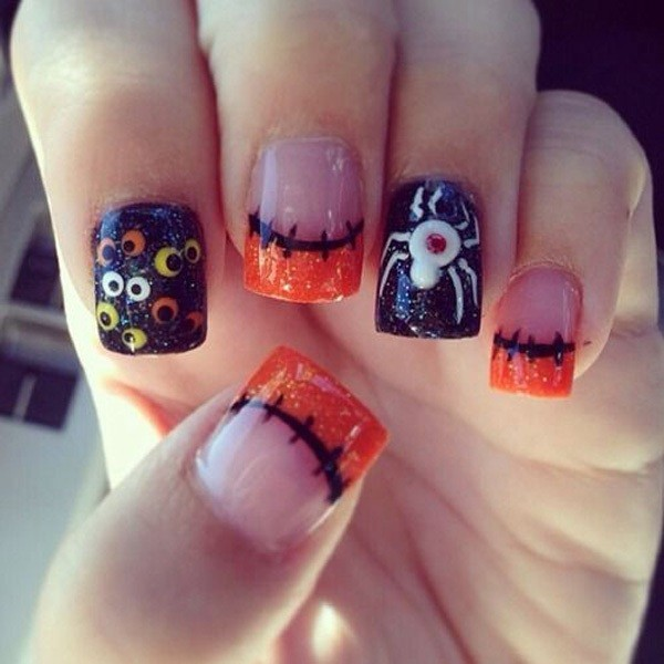 halloween-nail-ideas-94 89+ Seriously Spooky Halloween Nail Art Ideas