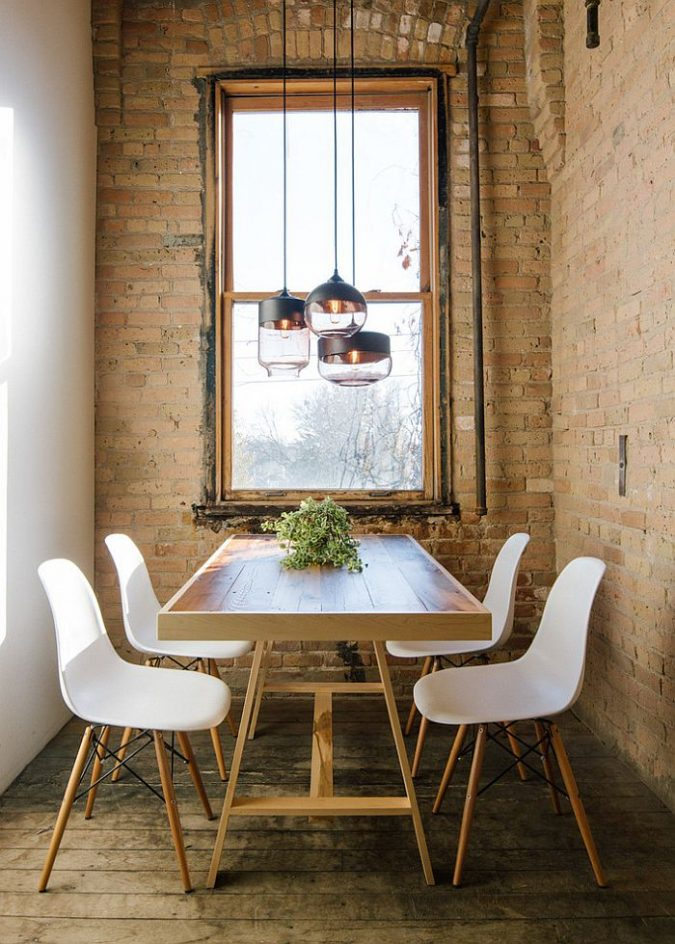 industrial-pendants-small-dining-space-675x944 5 Best Ways to Make Your Small Space Cleaner