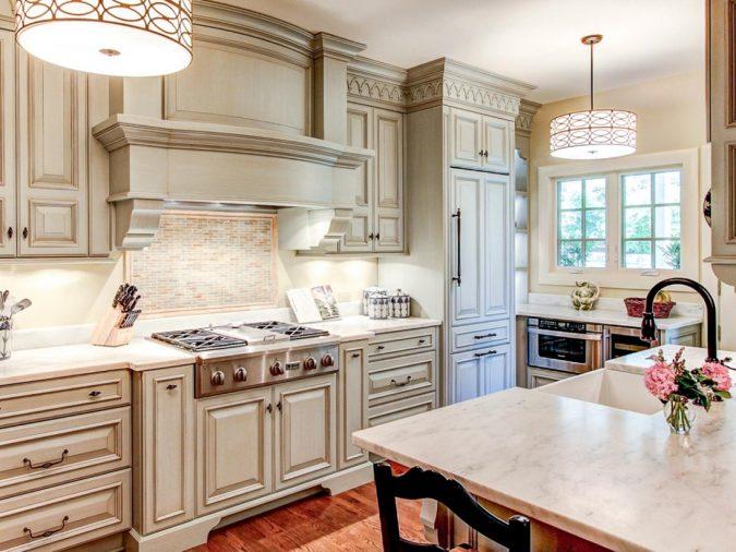 kitchen-with-wooden-floor-675x506 Top 10 Best White Bright Kitchen Design Ideas