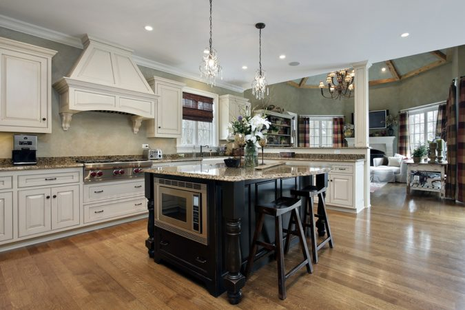 kitchen-wth-white-cabenites-2-675x450 Top 10 Best White Bright Kitchen Design Ideas