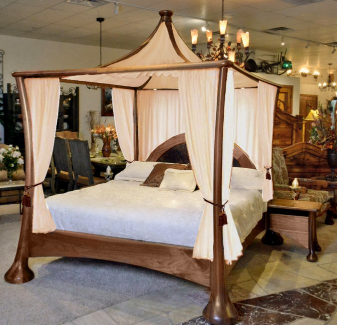 modern-Romantic-canopy-bed-frame-675x651 Canopy Beds through History... 35+ Bedroom Designs
