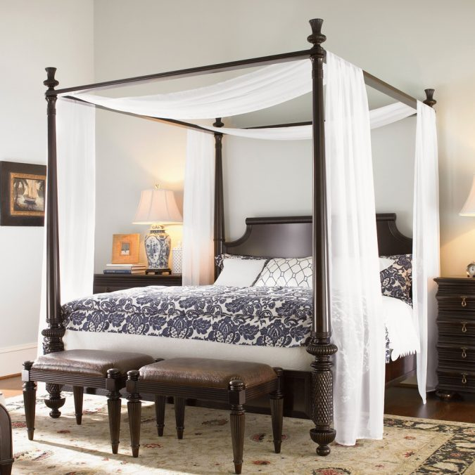modern-canopy-bedroom-675x676 Canopy Beds through History... 35+ Bedroom Designs