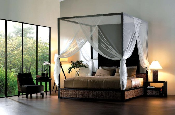 modern-canopy-bedroom-canopy-bed-675x445 Canopy Beds through History... 35+ Bedroom Designs