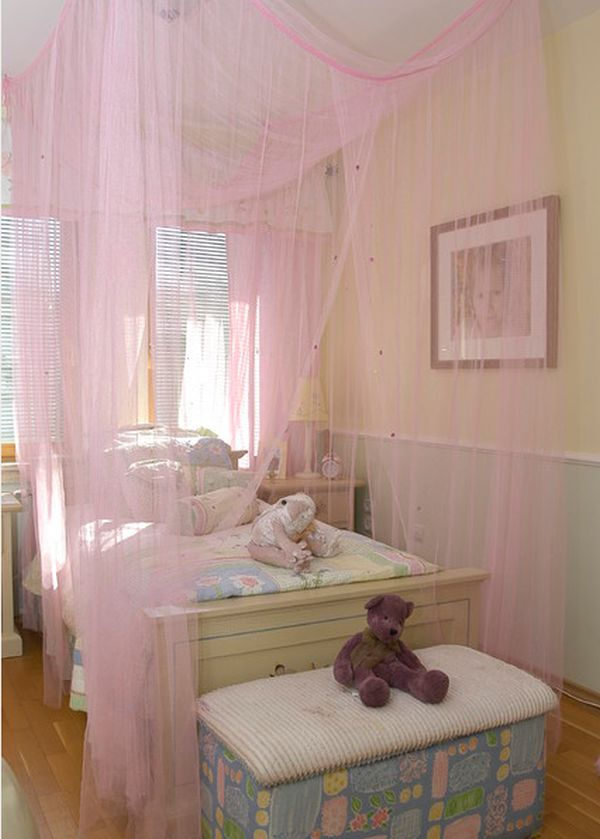 pink-canopy-bed Canopy Beds through History... 35+ Bedroom Designs
