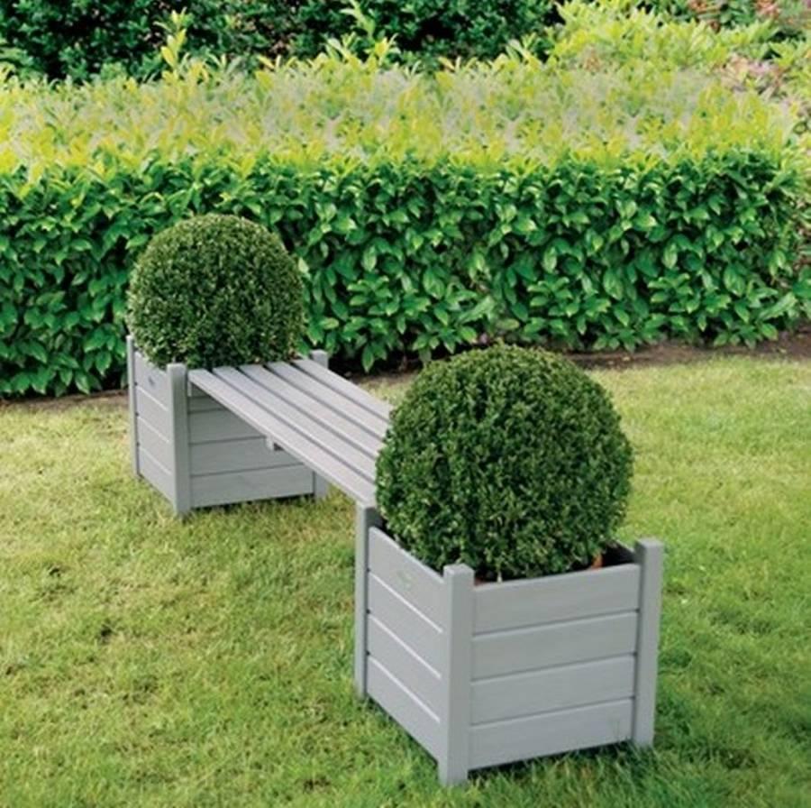 plant-pots-garden-benches 15 killer Garden Bench Decoration Ideas