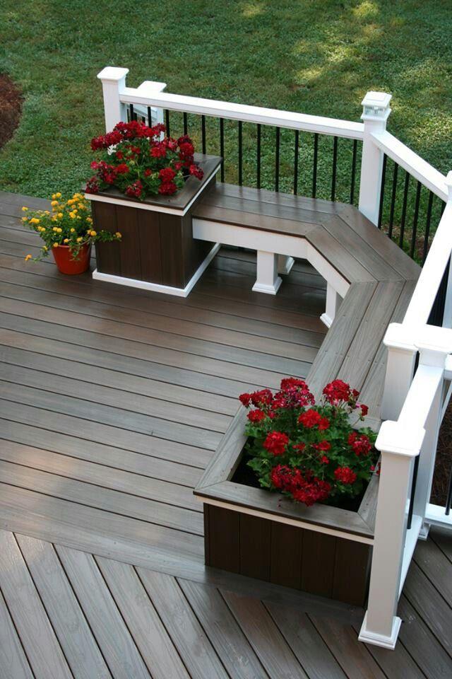 plant-pots-garden-benches2 15 killer Garden Bench Decoration Ideas