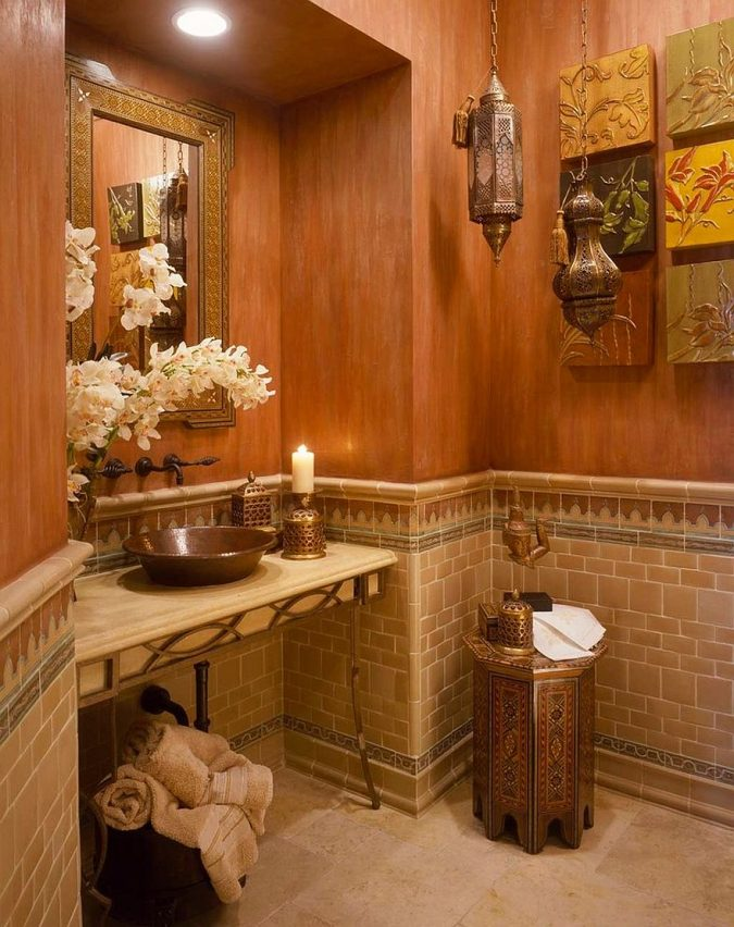 powder-room-half-bathroom-Moroccan-design-2-675x852 Top 10 Stunning Powder Room Decorating Ideas for 2018