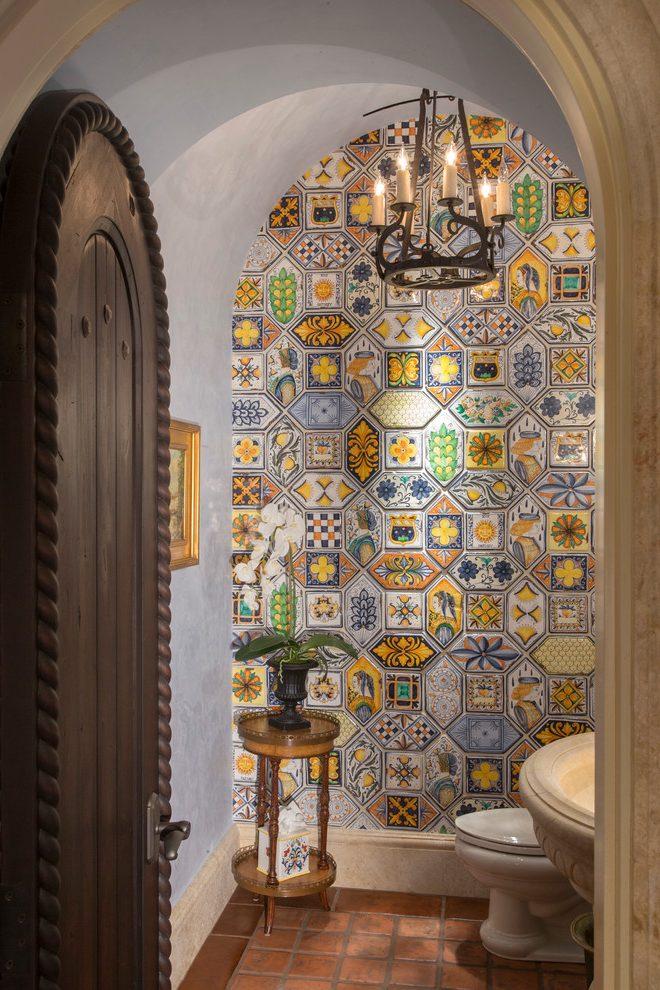 powder-room-half-bathroom-Moroccan-design Top 10 Stunning Powder Room Decorating Ideas for 2020