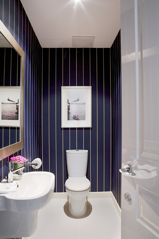 powder-room-navy-walls Top 10 Stunning Powder Room Decorating Ideas for 2018