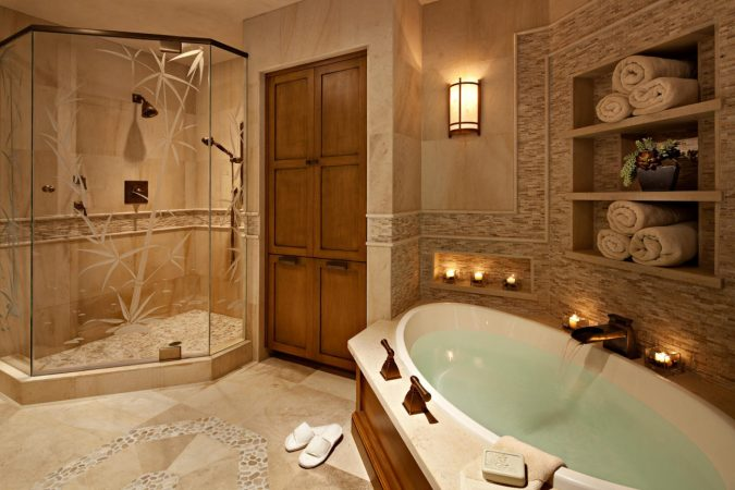 spa-like-bathroom-at-home-2-675x450 7 Unique Ways to Get Luxury Hotel Bathroom at Home