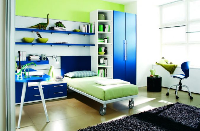 teenage-blue-room-675x442 Top 10 Coolest Room Design Ideas for Guys ... [2018 Trends]