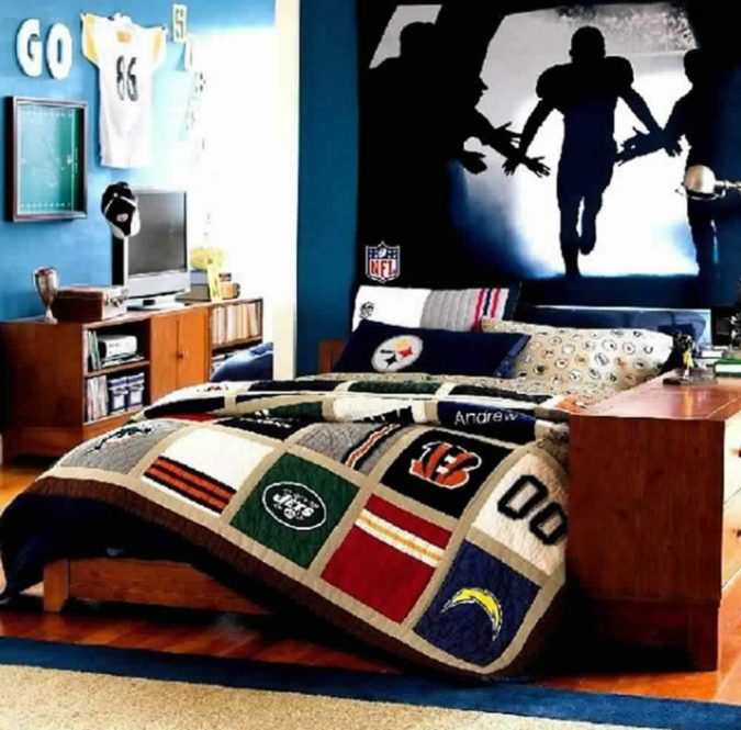 teenage-boy-room-2-675x665 Top 10 Coolest Room Design Ideas for Guys ... [2018 Trends]
