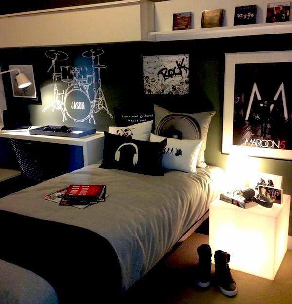 teenage-boy-room-3 Top 10 Coolest Room Design Ideas for Guys ... [2020 Trends]