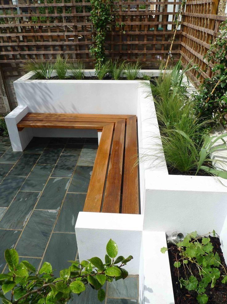 wall-bench-garden-benches1 15 killer Garden Bench Decoration Ideas