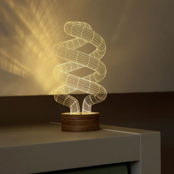 3d-optical-illusion-spiral-bulb-led-lamp-675x675 Top 10 Unique Lighting Products Trending in 2020