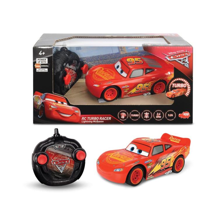 Cars-3-Lightning-McQueen-RC-Turbo-Racer-Car-124 40+ Hottest Christmas Toys Your Kids Really Want in 2021