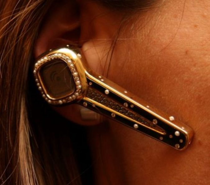 Diamond-Encrusted-Bluetooth-Headset-675x595 Top 10 Unusual Luxury Products