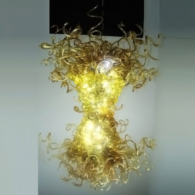 Golden-Luxurious-Moden-Glass-Chandelier-675x675 Top 10 Unique Lighting Products Trending in 2018