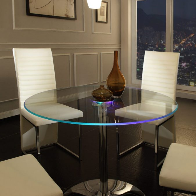 LED-Lit-Dining-Table-675x675 Top 10 Unusual Kitchen Products Coming in 2018