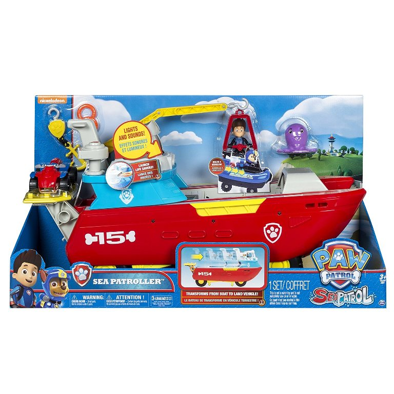 Paw-Patrol-Sea-Patroller-Transforming-Vehicle 40+ Hottest Christmas Toys Your Kids Really Want in 2018