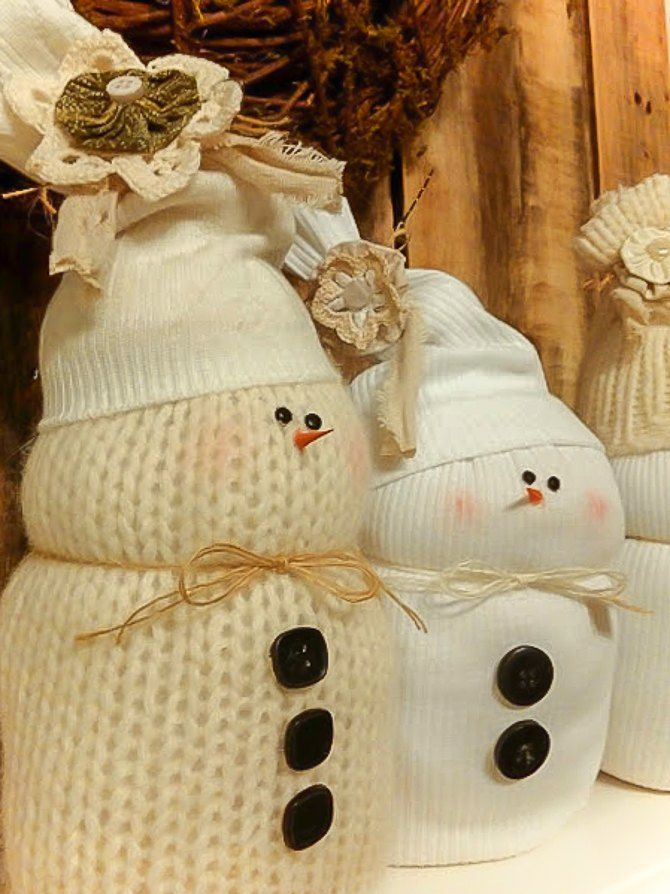 Shrunken-Sweater-Snowmen-2 7 Top Upcoming Christmas Decoration Ideas 2018