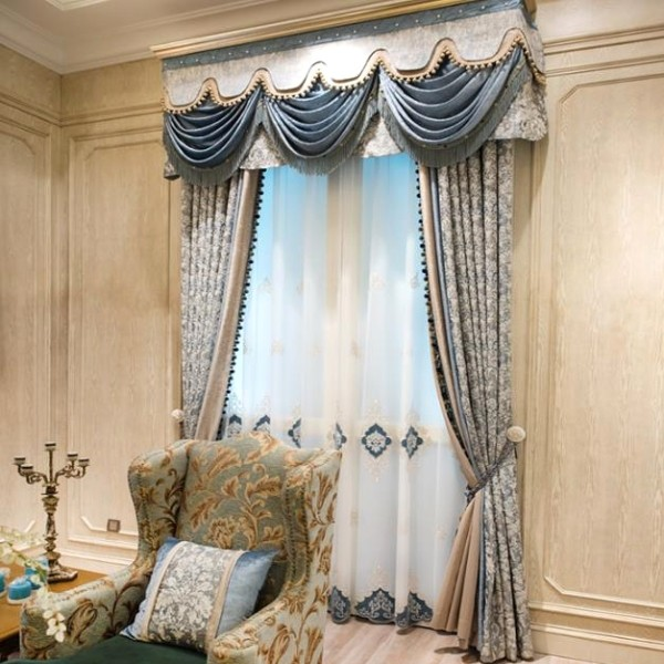blackout-curtains-with-fur-balls-4 7 Luxurious Blackout Curtain Ideas That Will Turn Your Window into a Piece of Art