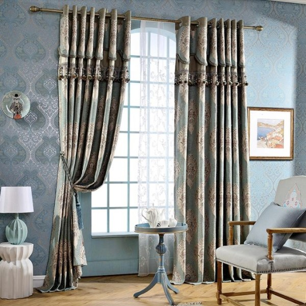 blackout-curtains-with-fur-balls-6 7 Luxurious Blackout Curtain Ideas That Will Turn Your Window into a Piece of Art
