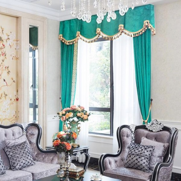blackout-curtains-with-tassels-10 7 Luxurious Blackout Curtain Ideas That Will Turn Your Window into a Piece of Art