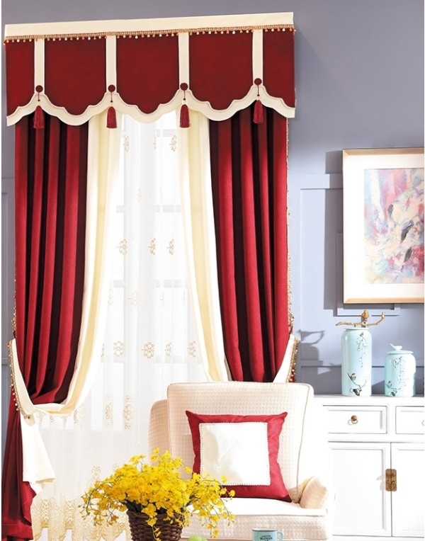 blackout-curtains-with-tassels-4 7 Luxurious Blackout Curtain Ideas That Will Turn Your Window into a Piece of Art
