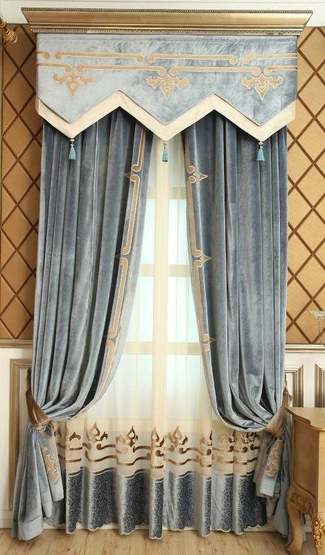 blackout-curtains-with-tassels 7 Luxurious Blackout Curtain Ideas That Will Turn Your Window into a Piece of Art