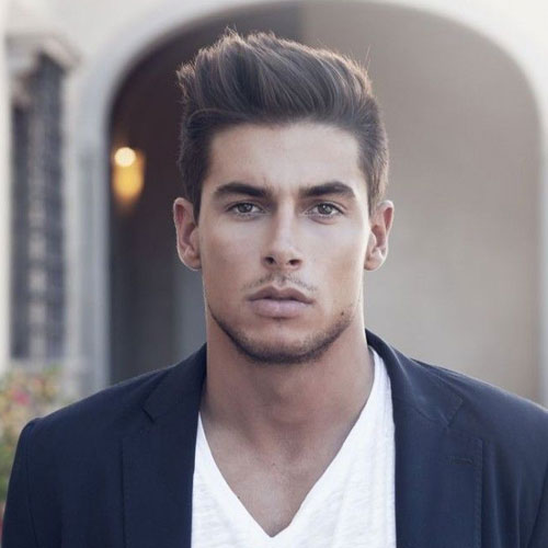 bu 10 Hairstyles Will Suit Men with Oval Faces