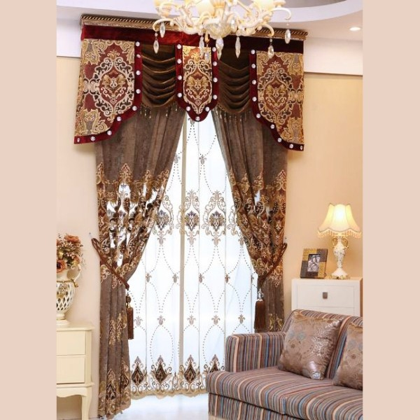 crystals-and-beads-8 7 Luxurious Blackout Curtain Ideas That Will Turn Your Window into a Piece of Art