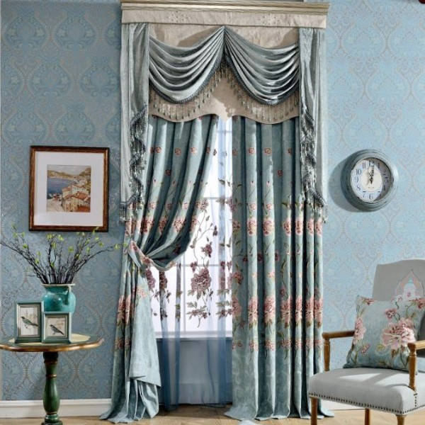 crystals-and-beads-9 7 Luxurious Blackout Curtain Ideas That Will Turn Your Window into a Piece of Art