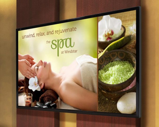 digital-signage-spa-675x543 7 Reasons Digital Signage Gets Your Business More Customers