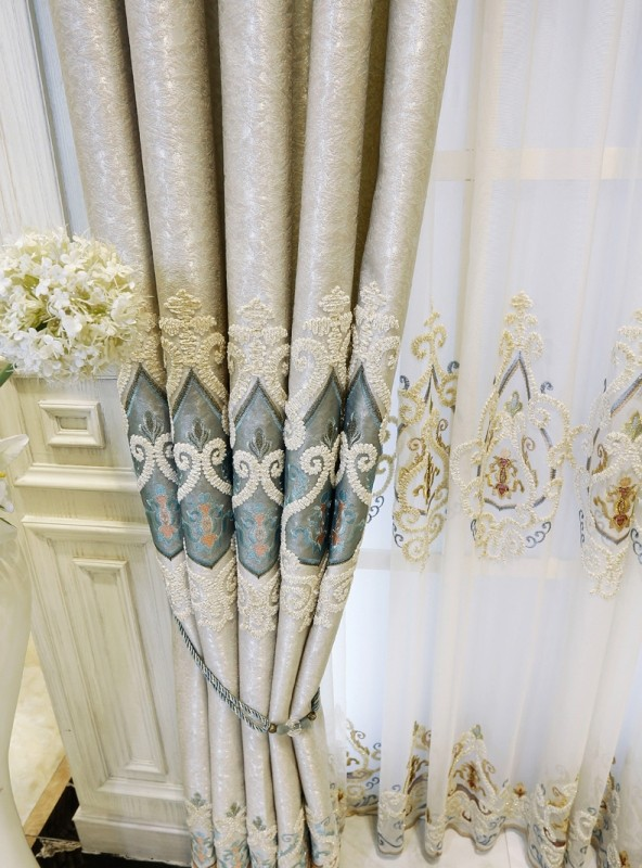 embroidered-blackout-curtains-1 7 Luxurious Blackout Curtain Ideas That Will Turn Your Window into a Piece of Art