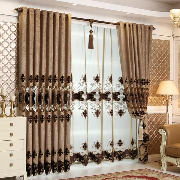 embroidered-blackout-curtains-11 7 Luxurious Blackout Curtain Ideas That Will Turn Your Window into a Piece of Art