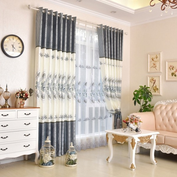 embroidered-blackout-curtains-12 7 Luxurious Blackout Curtain Ideas That Will Turn Your Window into a Piece of Art