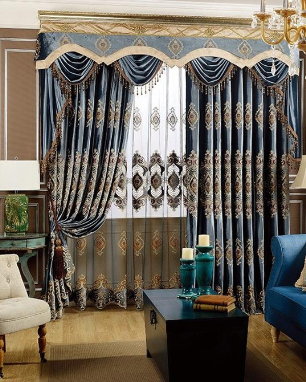 embroidered-blackout-curtains-3 7 Luxurious Blackout Curtain Ideas That Will Turn Your Window into a Piece of Art