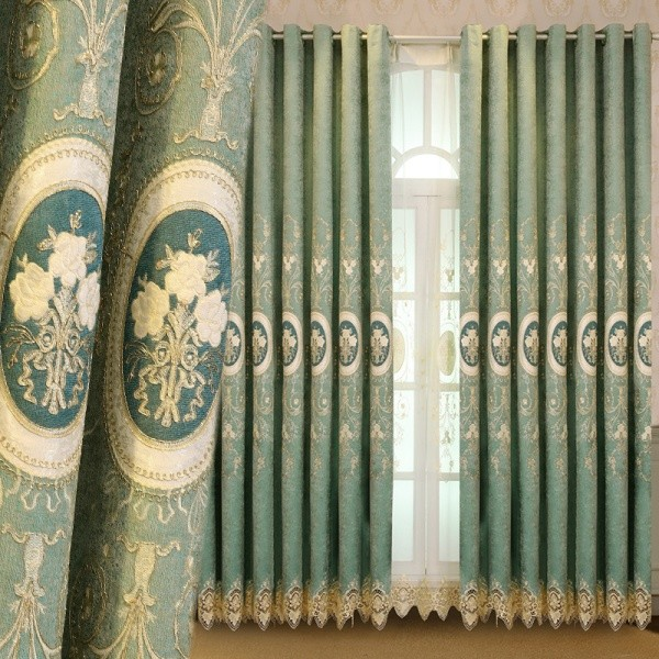 embroidered-blackout-curtains-6 7 Luxurious Blackout Curtain Ideas That Will Turn Your Window into a Piece of Art