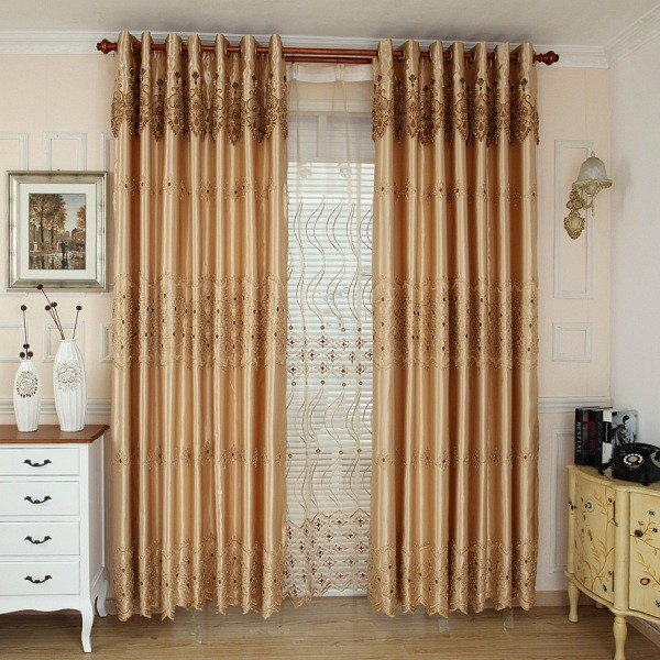 embroidered-blackout-curtains-8 7 Luxurious Blackout Curtain Ideas That Will Turn Your Window into a Piece of Art