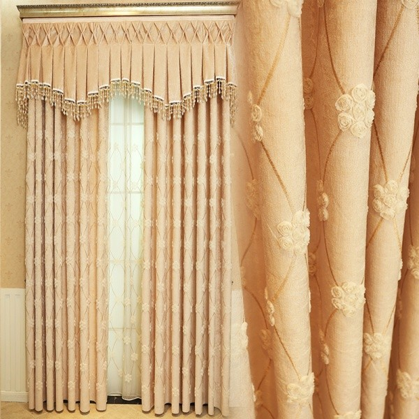 embroidered-blackout-curtains-9 7 Luxurious Blackout Curtain Ideas That Will Turn Your Window into a Piece of Art