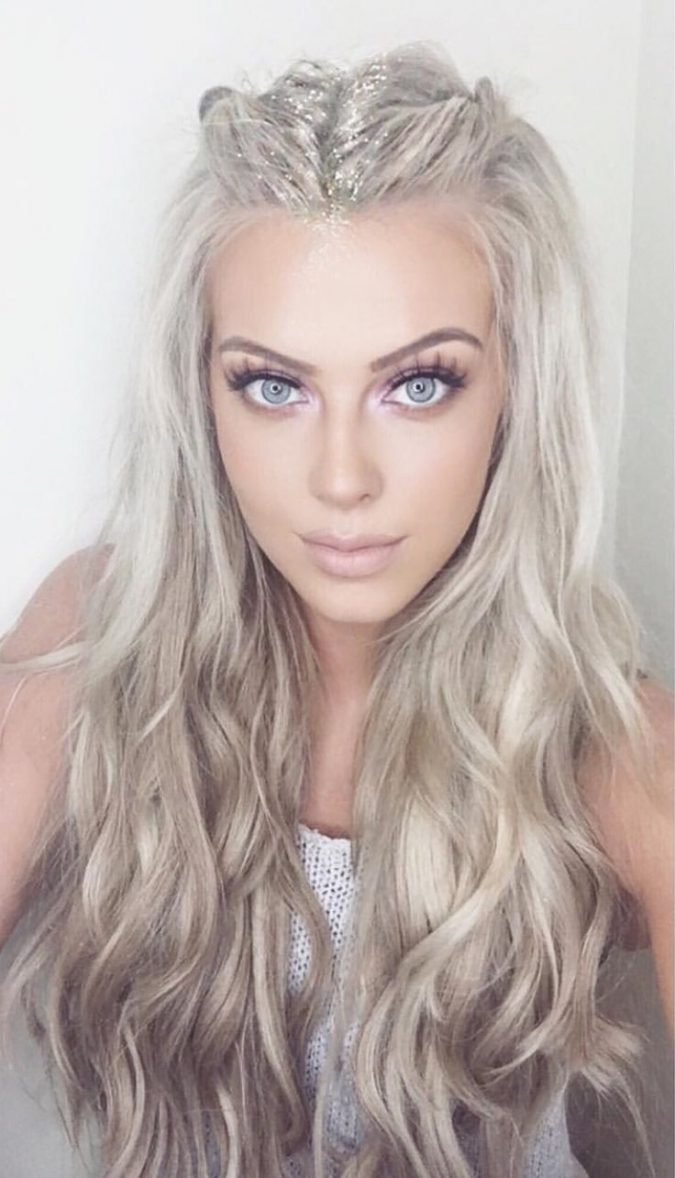 hair-with-glitter-roots-675x1178 Top 10 Unusual Hair Products to Use in 2018