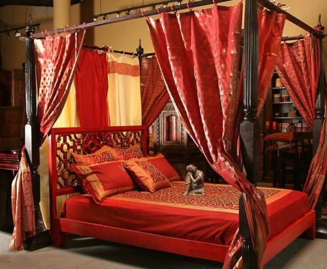indian-canopy-bed-675x556 Top 5 Indian Interior Design Trends for 2018