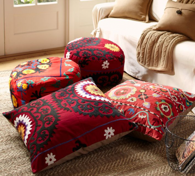 indian-interior-design-floor-cushions-675x608 Top 5 Indian Interior Design Trends for 2020