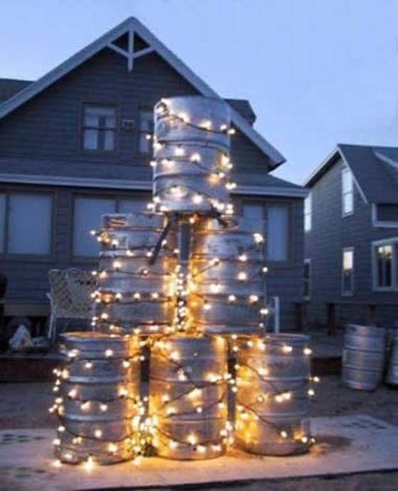 keg-christmas-tree 7 Top Upcoming Christmas Decoration Ideas 2018