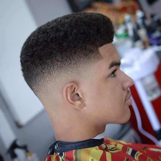men-hairstyle-flat-top-fade-temple-675x675 7 Crazy Curly Hairstyles for Black Men in 2020