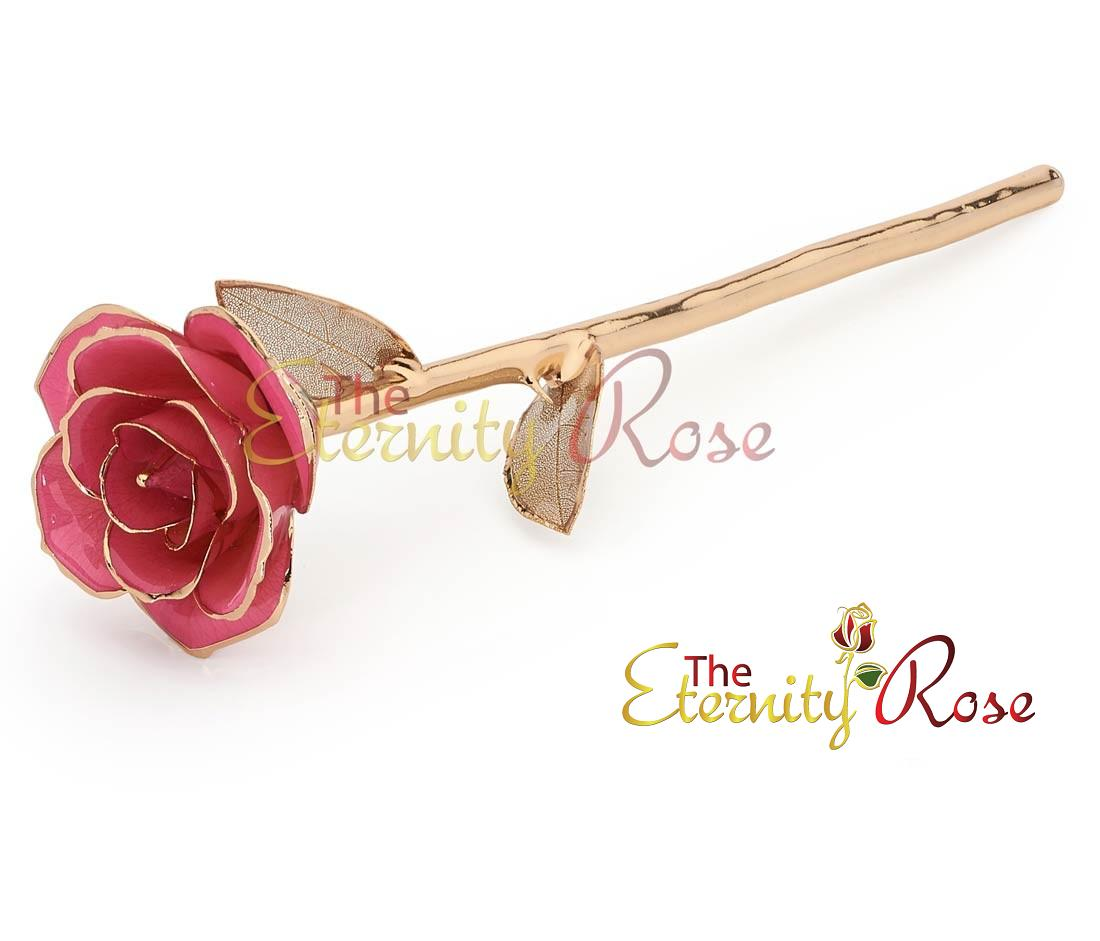 pink-eternity-rose-gold-lattice-leaves Eternity Rose As a Perfect Romantic Gift to Express Your True Love